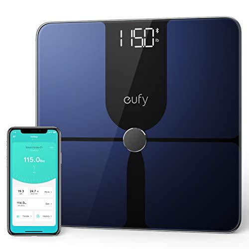 eufy Smart Scale P1, Smarte Personenwaage mit Bluetooth, Große LED-Anzeige, 14 Messwerte, Misst...