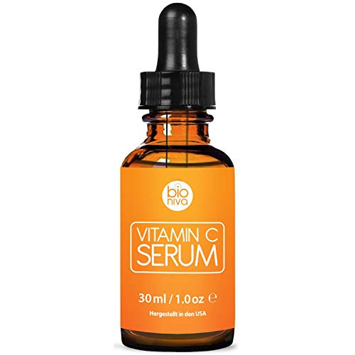 Bioniva Vitamin C Serum für Ihr Gesicht mit 20% Vitamin C + Hyaluronsäure + Vitamin E + Jojobaöl....