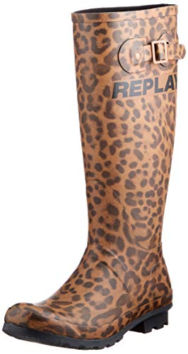 REPLAY Damen HUNTSVILLE Gummistiefel, Braun (499 Brown Black), 40 EU
