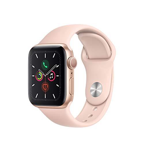 Apple Watch Series 5 (GPS, 40 mm) Aluminiumgehäuse Gold - Sportarmband Sandrosa