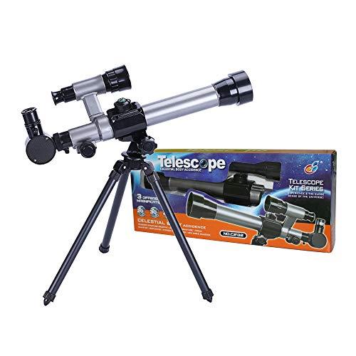 ALEENFOON Teleskop für Kinder, 20X-30X-40X Astronomisches Kinder Fernrohr Teleskop für Astronomie...