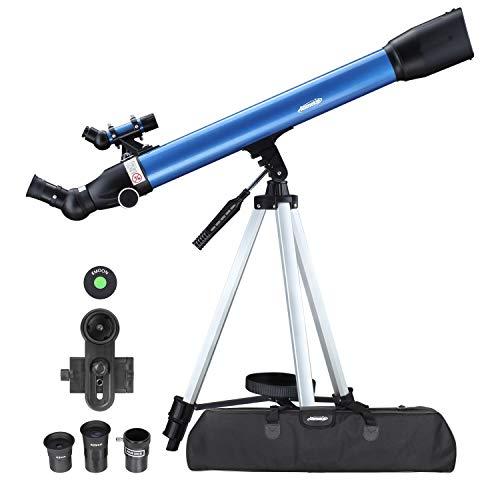 Aomekie Teleskop Astronomie 60/700 Fernrohr Teleskop Einsteiger Kinder mit 10X Smartphone Adapter...