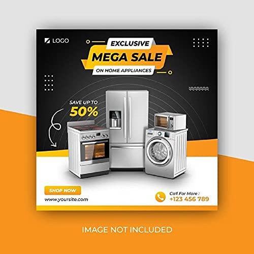 Editable Product Flyer - Electronics, Home Appliances & Furnishing (English Edition)