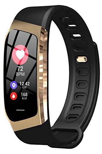 Fitness Uhr Damen Pulsuhr Sport Blutdruckmessung Smartwatch IOS Android Wasserdicht Schlaf Tracker...