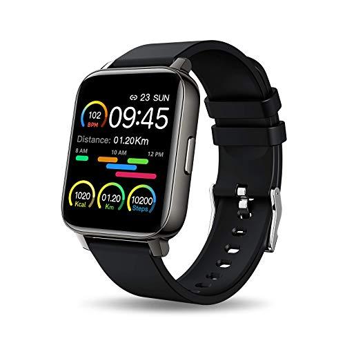 Smartwatch, 1.69 Zoll Voll Touchscreen Fitness Tracker mit Pulsmesser und Schlafanalyse, Fitnessuhr...