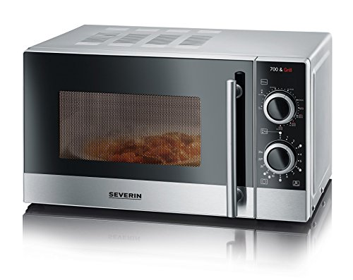SEVERIN 2-in-1 Mikrowelle mit Grill 700 W, Grillofen mit 9 Automatikprogrammen, Mikrowelle mit...