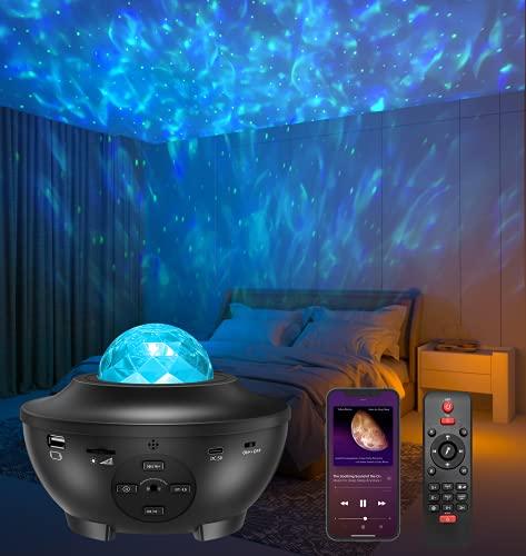 LED Sternenhimmel Projektor, Amouhom Sternenlicht Projektor mit Fernbedienung/Bluetooth 5.0/ 3...