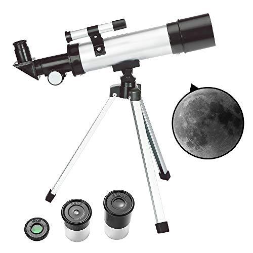 ToyerBee Teleskop Kinder & Anfänger – 50 mm Blende 360 mm astronomisches Refraktor Teleskop,...