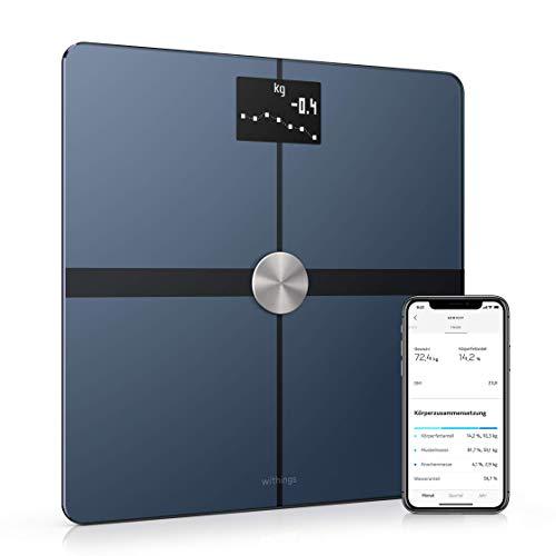 Withings Body+ - WLAN-Smart-Waage mit Körperzusammensetzungsfunktion, Messung von Körperfett, BMI,...