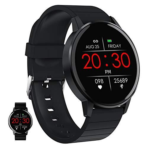 Smart Watch, Fitness-Tracker Mit Herzfrequenzmesser, Aktivitäts-Tracker Mit 1,3-Zoll-Touchscreen,...