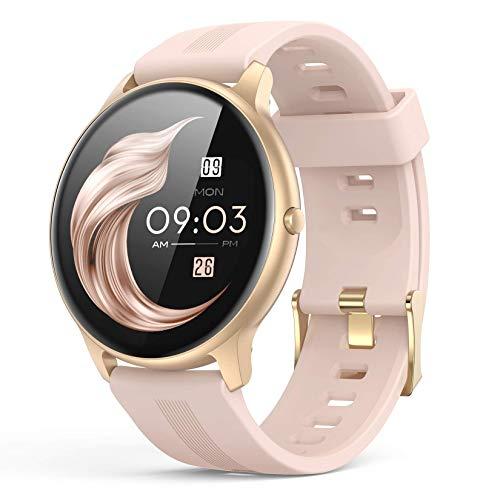 Smartwatch, AGPTEK 1,3 Zoll Armbanduhr mit personalisiertem Bildschirm, Musiksteuerung,...