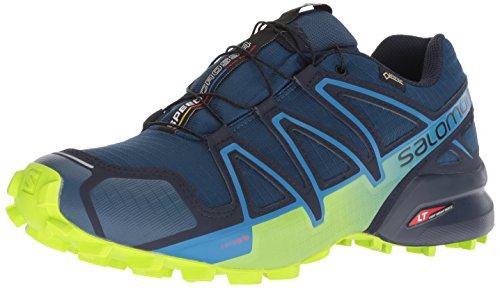 Salomon Herren Trail Running Schuhe, SPEEDCROSS 4 GTX, Farbe: blau (Poseidon/navy Blazer/ lime...