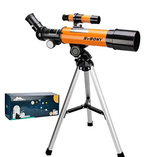 Svbony SV502 Teleskop Kinder Anfanger, Fernrohr Teleskop,50/360mm Astronomisches Teleskop für...