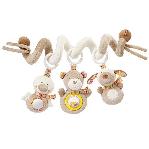 Fehn 160970 Activity-Spirale Rainbow – Stoff-Spirale zum Greifen und Fühlen – Für Babys und...