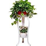 81,3 cm Pflanzenständer Metall Blumenhalter Topf mit 2 Etagen Garten Dekoration Display Terrasse...
