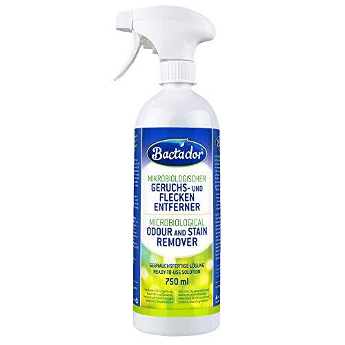 Bactador Geruchsentferner und Fleckenentferner Spray 750ml - Mikrobiologischer Geruchsneutralisierer...