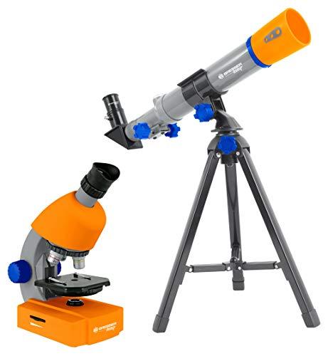 Bresser Junior Mikroskop & Teleskop Set mit Mikroskop 40x-640x Vergrößerung und 40/400mm Teleskop...