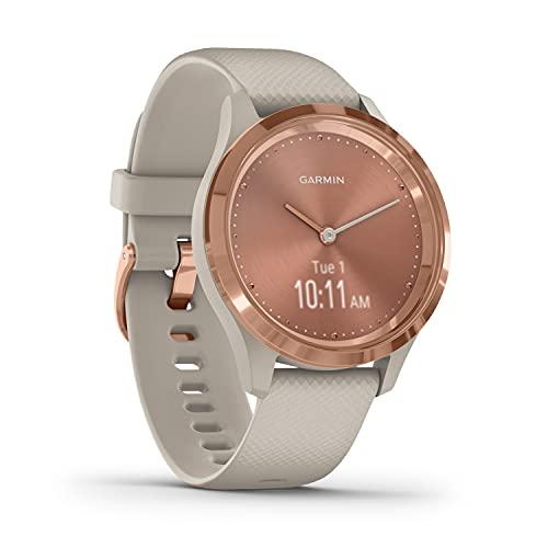 Garmin vívomove 3S – schlanke, stilvolle Hybrid-Smartwatch mit analogen Zeigern & OLED-Display...