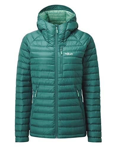 RAB Microlight Alpine Long Jacke Damen Atlantis/Cascade Größe UK 16 | XL 2019 Funktionsjacke