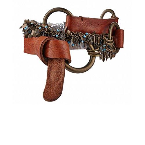 GUT INSTINKT - Handgefertigter Italienischer Luxus Leder Damengürtel - ROMA (Bräunen 85cm)