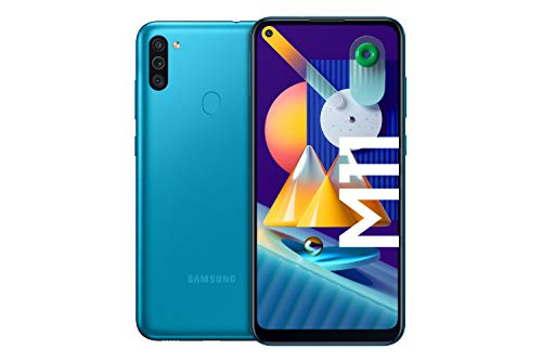 Samsung Galaxy M11 Android Smartphone ohne Vertrag, Triple-Kamera, 6,4 Zoll HD+ Infinity-O Display,...