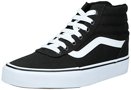 Vans Damen Ward Hi Sneaker, Schwarz ((Canvas) Black/White 187), 37 EU