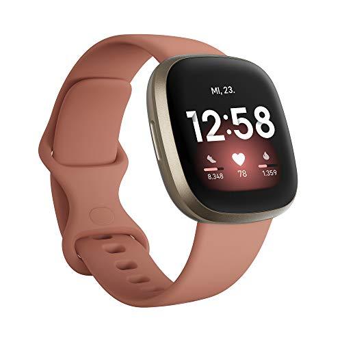 Fitbit Versa 3 - Gesundheits- & Fitness-Smartwatch mit GPS, kontinuierlicher Herzfrequenzmessung,...