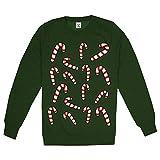 GAME ON Herren Candy Cane Sweatshirt, Grün (Bottle Green BGR), XXL