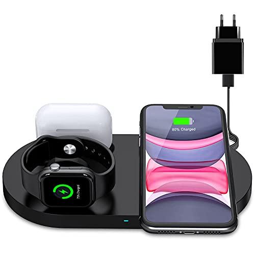 Wireless Charger, Schnelles Induktive Ladestation mit 18W Fast Adapter für iPhone 12/12 Pro...