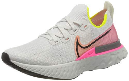 Nike Damen React Infinity Run Flyknit Laufschuhe, Grau (Platinum Tint/Black-Pink Blast 004), 40.5 EU