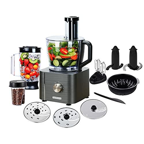 TopStrong Küchenmaschine 1100W, Küchenmaschine Multifunktional, 3,2L Food Processor mit Zubehör...
