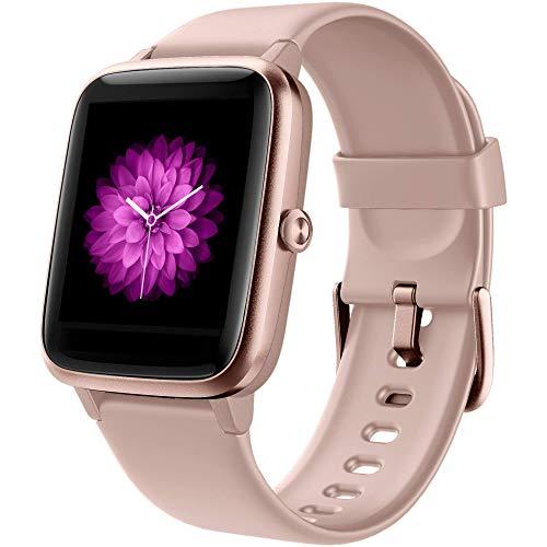 GRDE Smartwatch Damen Smartwatch Bluetooth 1.3 Zoll Voll Touchscreen Fitness Armband Sportuhr 5ATM...