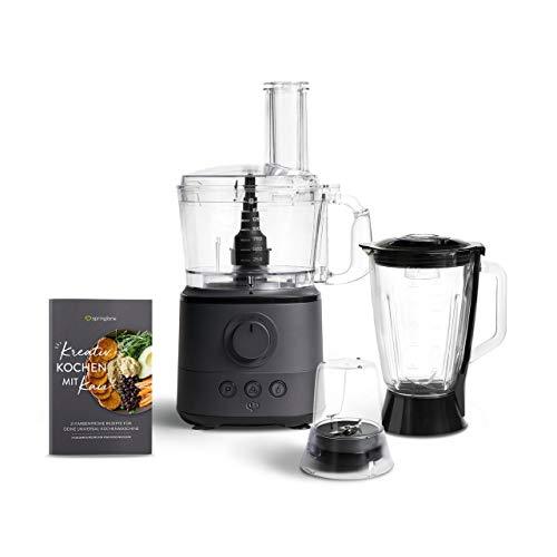 Küchenmaschine Kaia 1000 W, 1,5 L Behälter, Food Processor inkl. 4 Schneidescheiben,...