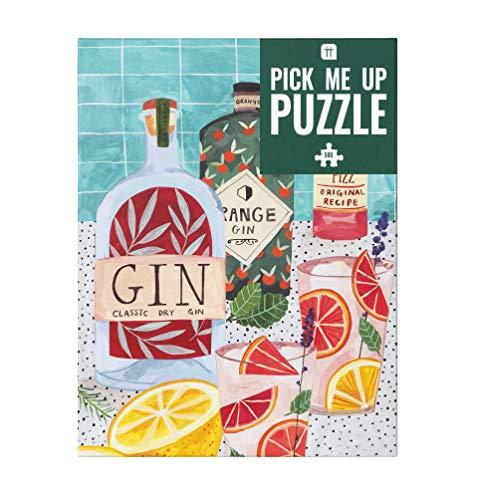 Talking Tables 500-teiliges buntes Gin Puzzle u. Poster   Illustriert   Zu Hause, Flasche,...