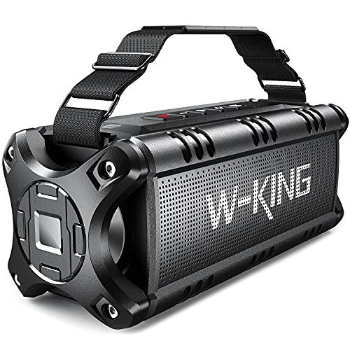 W-KING 50W Bluetooth Lautsprecher, Super Laut Outdoor Lautsprecher Wasserdicht IPX6, Druckvoller...