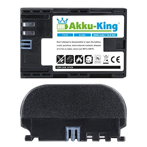 Akku-King Akku kompatibel mit Blackmagic Design LP-E6 - Li-Ion 2000mAh - für Video Pocket Micro...