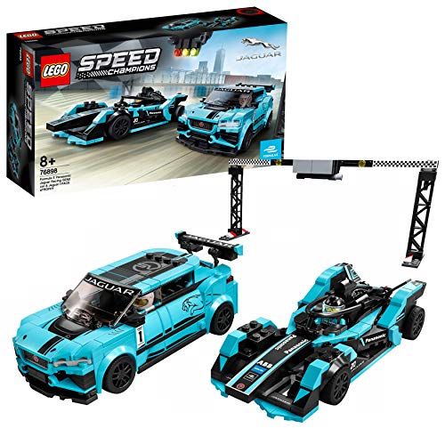 LEGO 76898 Speed Champions Formula E Panasonic Jaguar Racing GEN2 car & Jaguar I-PACE eTROPHY,...