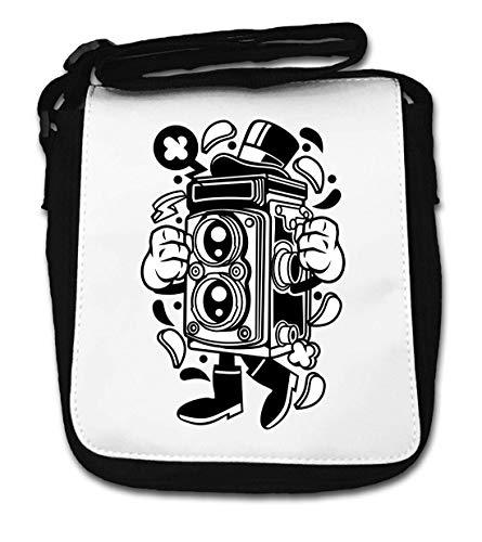 Cartoon Style Retro Old School Photo Camera Small Shoulder Bag