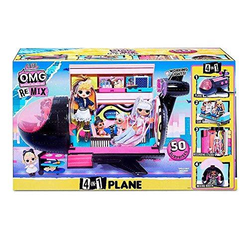 LOL Surprise OMG Remix 4-in-1 Flugzeug - Mit 50 Überraschungen - Verwandelt sich in Flugzeug, Auto,...