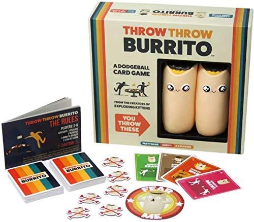 SOYYD Deluxe Throw Throw Burrito-Kartenspiel, Völkerball-Kartenspiel Familien- und Partyspiel...