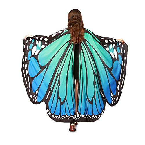 Damen Schmetterling Kostüm Faschingkostüme Schmetterling Schal Flügel Schal Tuch...
