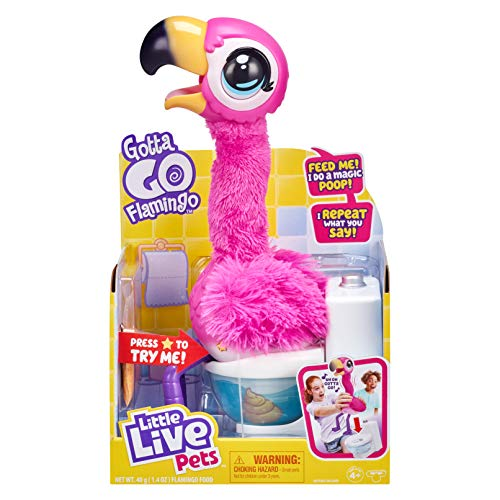 Little Live Pets 26222 Gotta Go Flamingo: Interaktiver Flamingo Sherbet tanzt, singt, spricht nach...