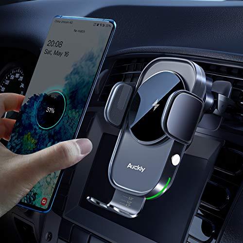 Auckly 15W Fast Wireless Charger Auto Handyhalterung Mit Ladefunktion Automatischer Induktion Motor...