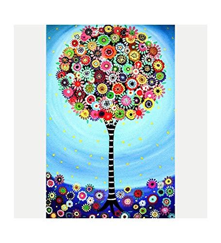 MTCDBD 1000 Teile Erwachsenenpuzzle Puzzle,Abstrakte Blume Baum, Holzpuzzle, Puzzle Sets Für...