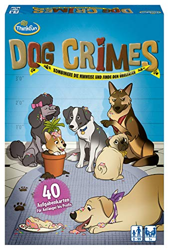 ThinkFun 76413 - Dog Crimes - Kombiniere die Hinweise und finde den Übeltäter! Deduktionsspiel...