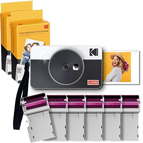 Kodak Mini Shot Combo 2 Retro 2.1 x 3.4 Kamera & DRUCKER + 68 Bilder, Sofortbild-Kamera, Fotodrucker...