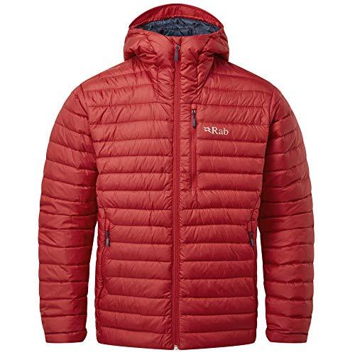 RAB M Microlight Alpine Jacket Rot, Herren Daunen Isolationsjacke, Größe XL - Farbe Ascent Red