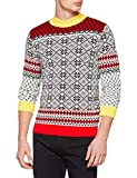 British Christmas Jumpers Herren Apres Ski Mens Christmas Jumper Pullover, Elfenbein (Yellow),...