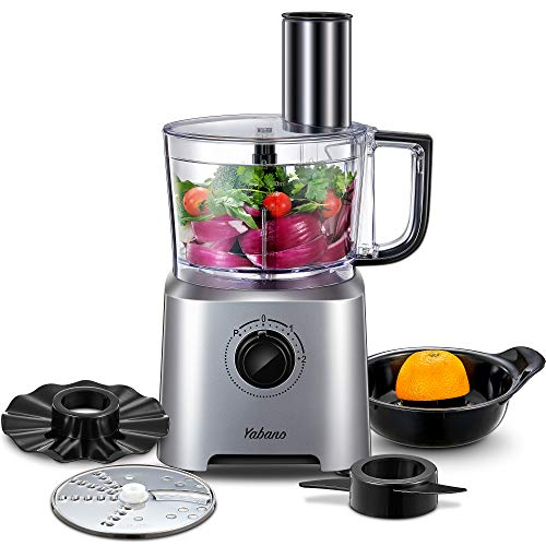 Küchenmaschine Multifunktions Yabano, 6 IN 1 Food Processor, Standmixer, Mixer, Zerkleinerer,...