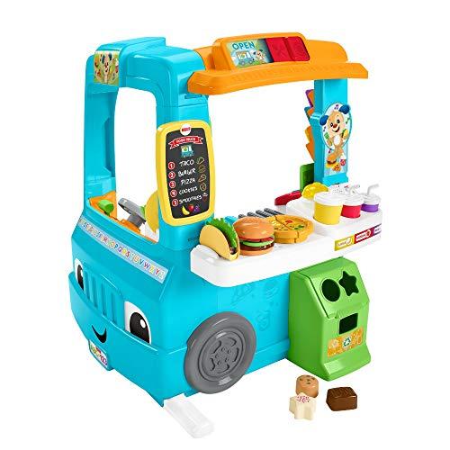 Fisher-Price GHJ07 - Lernspaß Food Truck dreisprachig (Deutsch, Spanisch, Französisch) mit Küche...